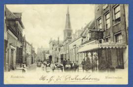 MONNIKENDAM, Noordeinde. Gelopen kaart.