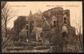 BLOEMENDAAL, Ruïne van Brederode. Gelopen kaart.