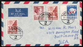 Denemarken. Air mail cover van Kopenhagen naar U.S.A.