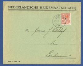 Firma cover BORCULO 1930 van BORCULO naar Lochem met rekening retour om aan te passen. Rekening van firma Olthoff uit Lochem.