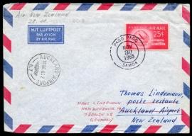 U.S.A. Airmailcover van PAGO PAGO, SAMOA naar Nieuw Zeeland.