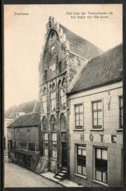 ZIERIKZEE, Het huis der Tempelieren uit het begin der 15e eeuw. Ongelopen kaart.