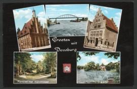 DOESBURG, Groeten uit Doesburg. Gelopen kaart.