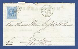 Puntstempel 36 en kleinrondstempel ENSCHEDE op vouwbrief naar Goirle.