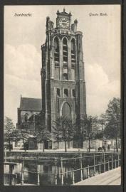 DORDRECHT, Groote Kerk. Gelopen kaart.