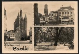 ZWOLLE, Groeten uit Zwolle. Gelopen kaart.