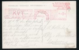 Firma briefkaart MOORDRECHT 1959 met eigen frankeerstempel. Op eigen bedrijfsansichtkaart.