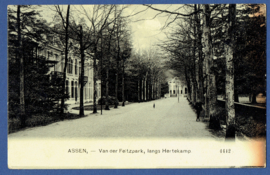 ASSEN, Van der Feitzpark, langs Hertekamp. Gelopen kaart.