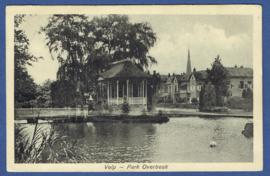 Velp, Park Overbeek. Gelopen kaart.