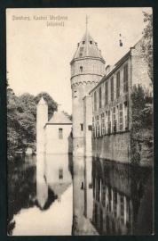 DOMBURG, Kasteel Westhove (zijgevel). Gelopen kaart.