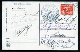 DEVENTER, Landbouw Tentoonstelling D.E.L.T.O. 13-17 September 1927. Op ansichtkaart Bergen, Sluis te Bergen (N.H.).