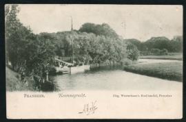 FRANEKER, Krommegracht. Gelopen kaart.