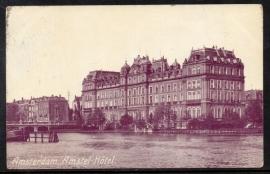 AMSTERDAM, Amstel - Hotel. Gelopen kaart.