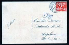 Briefkaart met grootrondstempel MAARTENSDIJK (UTR.) naar Delfshaven. Op ansichtkaart Ruitenhoven (Rustenhoven), Maartensdijk.