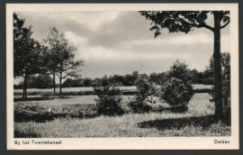 DELDEN, Bij het Twentekanaal. Ongelopen kaart.