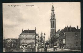 GRONINGEN, St. Josephkerk. Gelopen kaart.