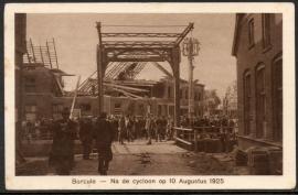 BORCULO, Na de cycloon op 10 Augustus 1925. Ongelopen kaart.