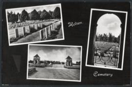 HOLTEN, Cemetery. Ongelopen kaart.