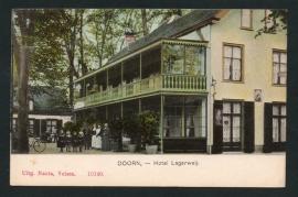 DOORN, Hotel Lagerweij. Ongelopen kaart.