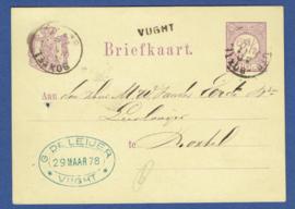 G - Briefkaart met langstempel VUCHT naar BOXTEL.