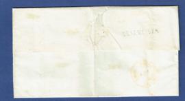 GENEMUIDEN 1855. Vouwbrief van GENEMUIDEN naar AMSTERDAM. Met halfrondstempel KAMPEN.
