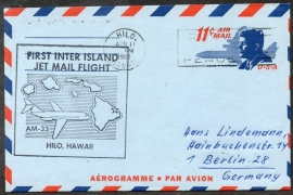 FIRST INTER ISLAND JET MAIL FLIGHT. HILO, HAWAII. 11 APRIL 1966.