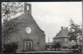 DEN HAM, Vrijgemaakt Geref. Kerk. Gelopen kaart.
