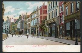 NIJMEGEN, Lange Burchtstraat. Gelopen kaart.