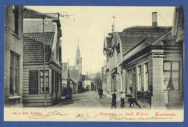 KROMMENIE, Dorpsweg - hoek Weiver. Gelopen kaart.