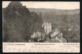 VALKENBERG, Groet uit Valkenberg, Vergezicht op Rotspark en Plenkert. Gelopen kaart.