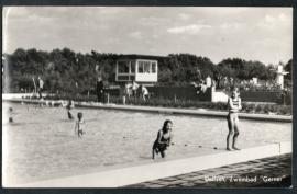 DALFSEN, Zwembad Gerner. Ongelopen kaart.