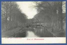 MONNIKENDAM, Groet uit Monnikendam. Ongelopen kaart.