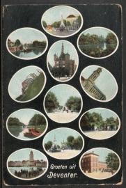 DEVENTER, Groeten uit Deventer. Ongelopen kaart.