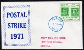 Groot-Brittannië. Postal Strike cover. 1971.