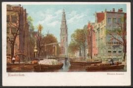 AMSTERDAM, Binnen-Amstel. Gelopen kaart.