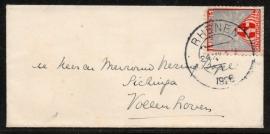Cover met kortebalkstempel RHENEN naar Vollenhove.