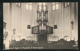 BOLSWARD, Orgel in 't Museum St. Martinikerk. Ongelopen kaart.