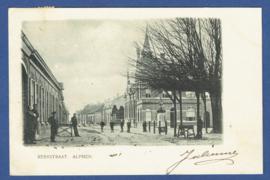 ALPHEN, Kerkstraat. Gelopen kaart.