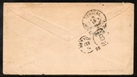 Cover met kleinrondstempel OOSTEREND (FRIESL:) naar Amerika.