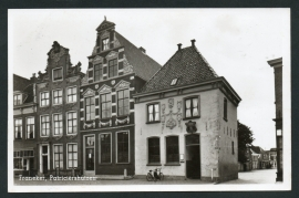 FRANEKER, Patriciërshuizen. Ongelopen kaart.
