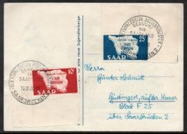 Saar. Eerste dag kaart. 15 December 1948.