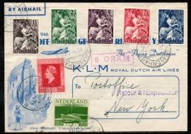 Eerste Trans-Atlantische Vlucht KLM AMSTERDAM - NEW-YORK. AMSTERDAM 21 mei 1946.