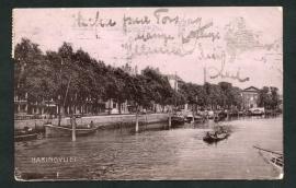 ROTTERDAM, Haringvliet. Gelopen kaart (fotokaart).