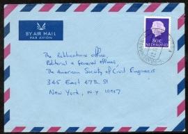 Luchtpostcover met stempel `s GRAVENHAGE - DENENBURG naar U.S.A.