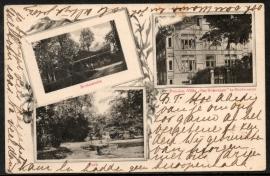 OOSTVOORNE, Park, Restauratie, Pension-Villa Ons Genoegen te Oostvoorne. Gelopen kaart.