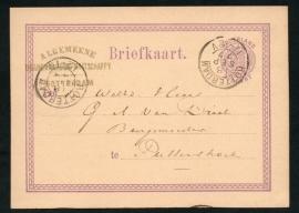 G - briefkaart met kleinrondstempel ROTTERDAM naar Puttershoek.