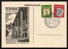 Deutsche Bundespost. Eerste dag kaart IFRABA. 29 Juli 1953.