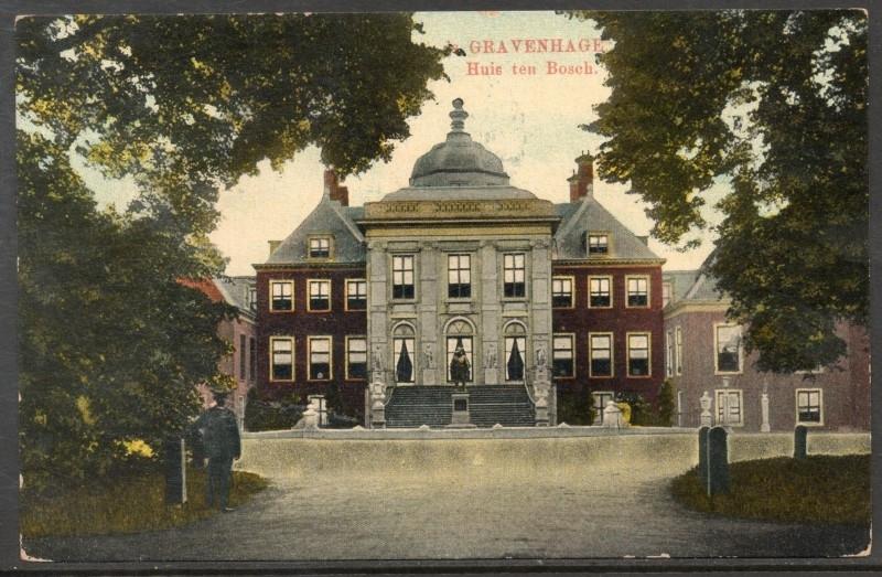 's GRAVENHAGE, Huis ten Bosch. Gelopen kaart.