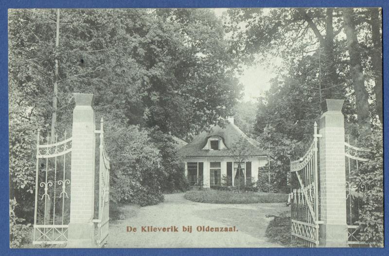 OLDENZAAL, De Klieverik bij Oldenzaal. Gelopen kaart.