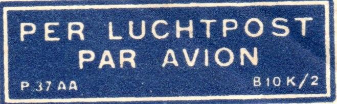 LUCHTPOST / AIRMAIL